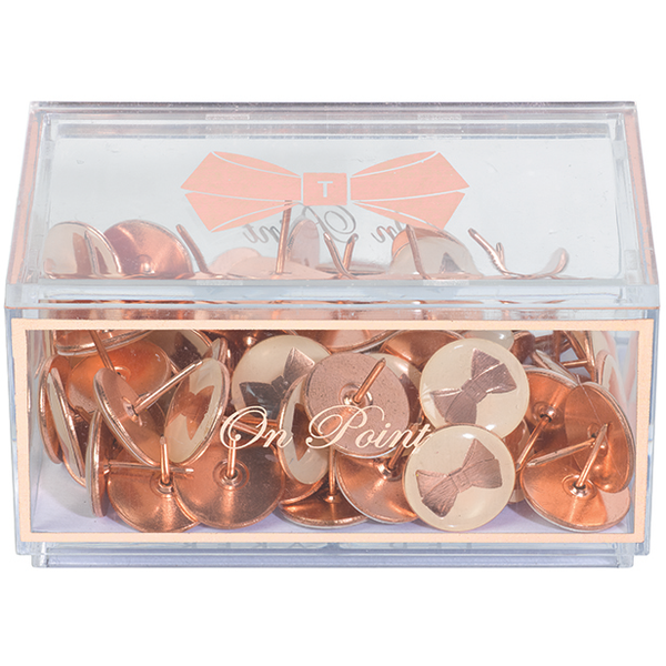 Ted Baker Rose Gold Bow Push Pins