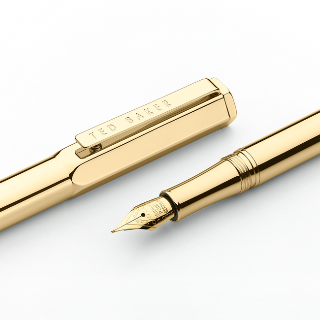 Ted Baker Premium Fountain Pen - Gold 24k