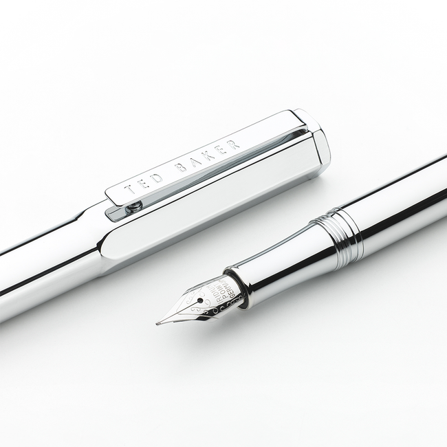 Ted Baker Premium Fountain Pen - Chrome