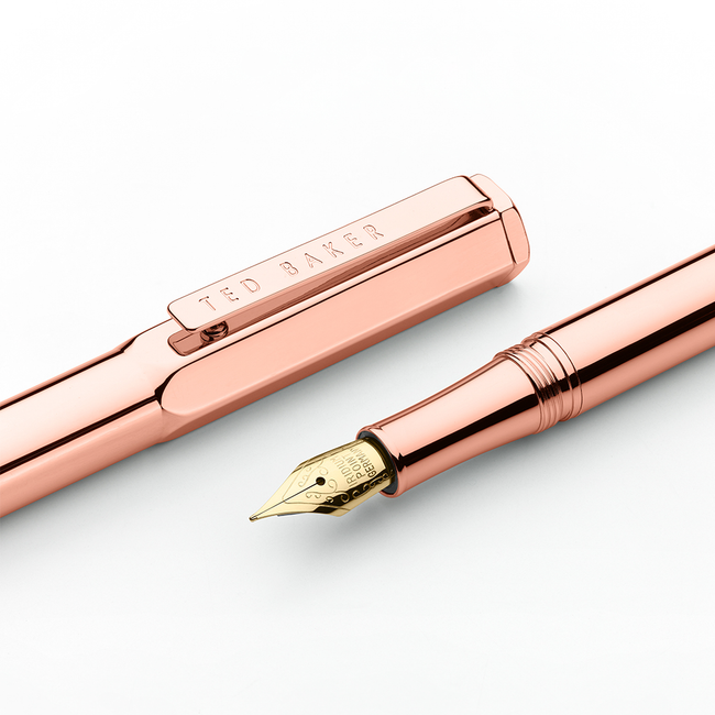 Ted Baker Premium Fountain Pen - Rose Gold