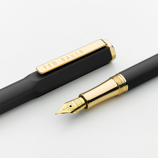 Ted Baker Premium Fountain Pen - Black Onyx