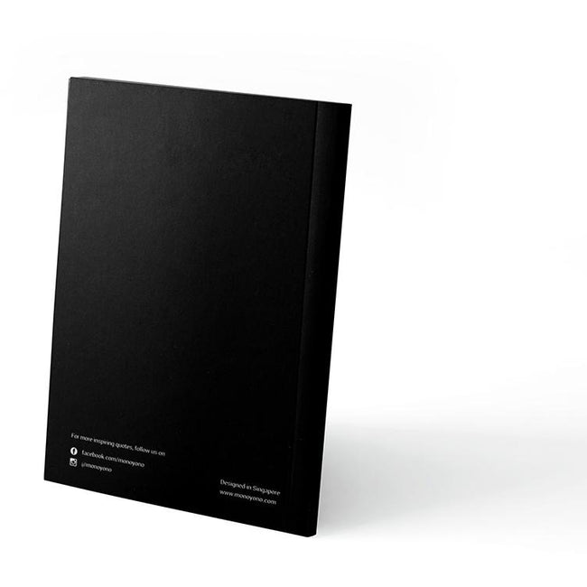 Monoyono Little Black Notebook - No Bad Vibes Allowed