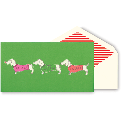 Kate Spade Holiday Card, Dachshunds