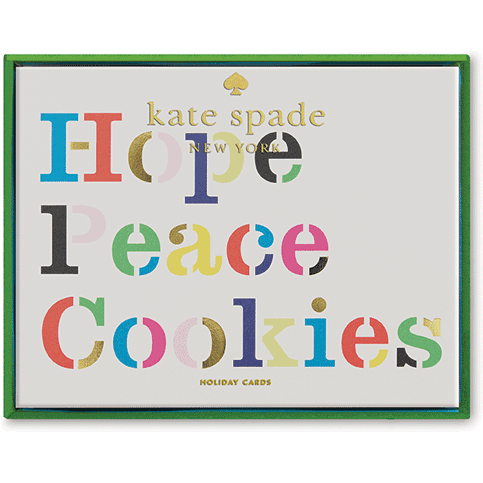 Kate Spade Holiday Card- Hope Peace and Cookies