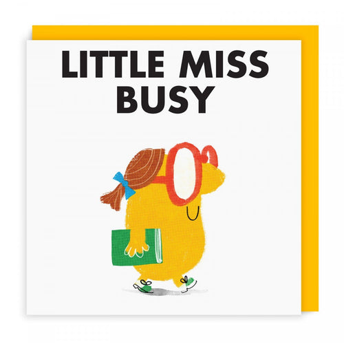 Little Miss Busy Greeting Card