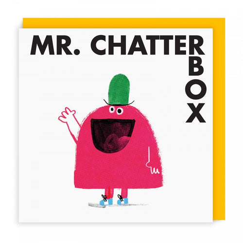 Mr Chatterbox Greeting Card
