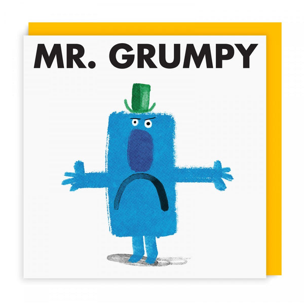 Mr Grumpy Greeting Card