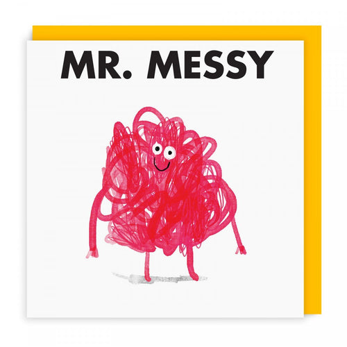 Mr Messy Greeting Card