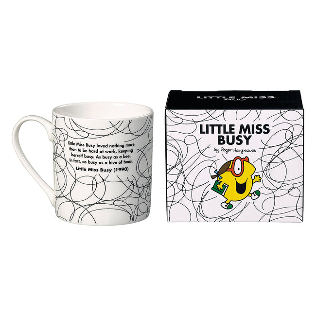 Little Miss Busy Mug (B&W)