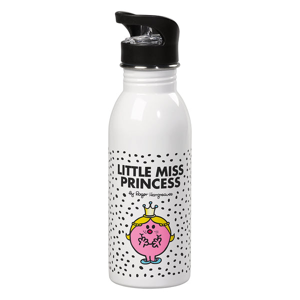 Little Miss Princess Water Bottle (B&W)