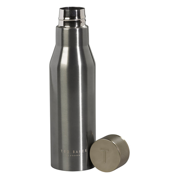Ted Baker Water Bottle Knurled Lid Gunmetal