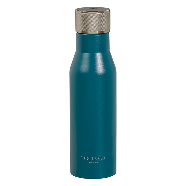 Ted Baker Water Bottle Knurled Lid Emerald Green