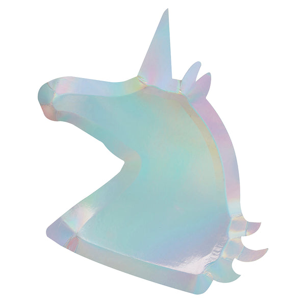 Unicorn Shaped Paper Plates
