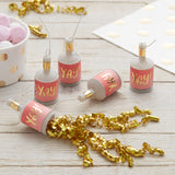 Gold Foiled Pink YAY Party Poppers