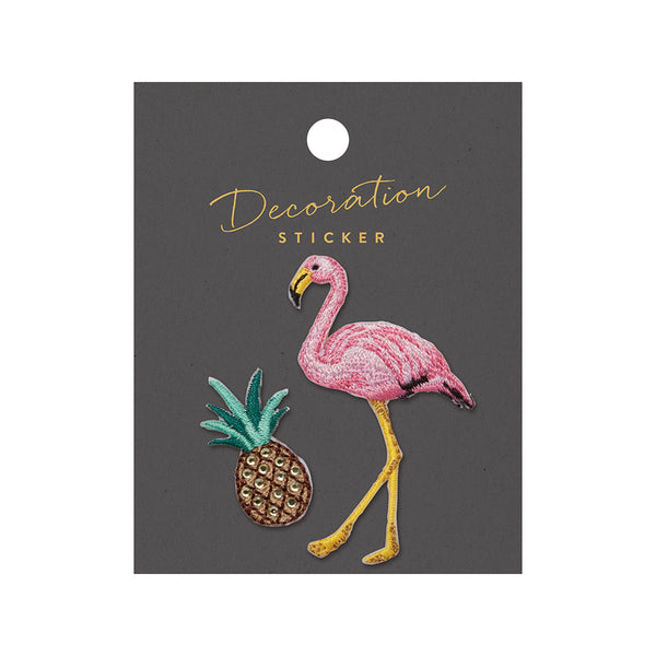 Embroidery Sticker - Flamingo