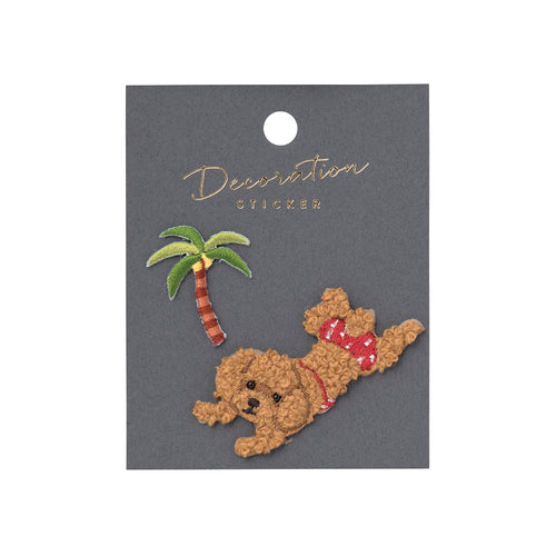 Embroidery Sticker - Toy Poodle