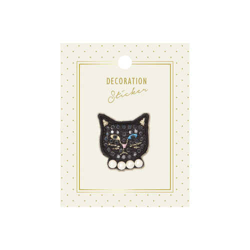 Embroidery Sticker - Pearly Cat