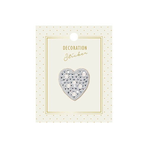 Embroidery Sticker - White Heart