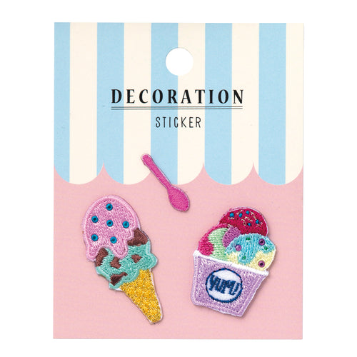 Embroidery Sticker - Ice Cream