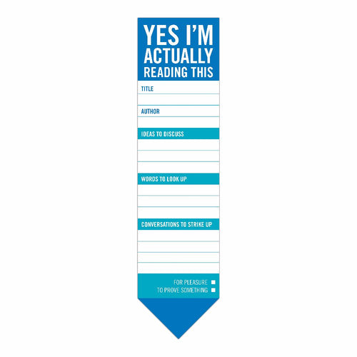 Yes, I'm Actually Reading This Bookmark Pad