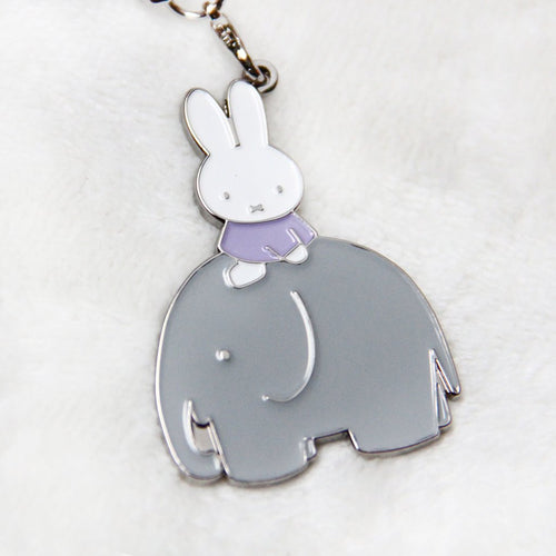Miffy Elephant Badge Keychain
