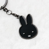 Miffy Noir Badge Keychain