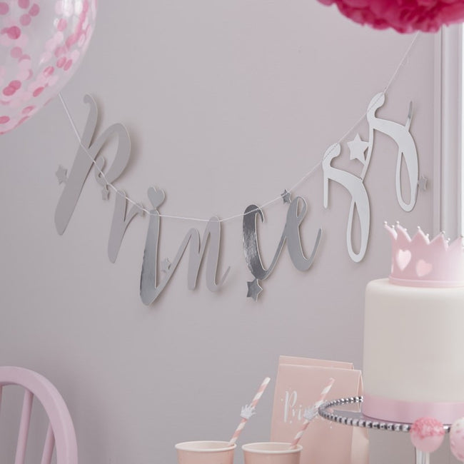 Pink & Silver Princess Complete Party In A Box