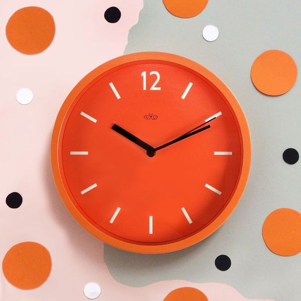 Wall Clock - Goldfish Orange