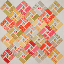 Crossroads Quilt Paper Pattern. A5  Coloured Booklet. Fat Eighths or Fat Quarters and One background fabric. Easy to follow instructions and diagrams.