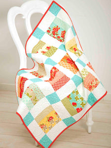 Baby Quilt Pattern PDF Download. Suitable for Beginner quilters, easy piecing with easy to follow instructions and diagrams.