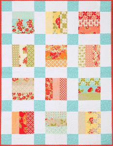 "Baby Quilt Pattern PDF Download. Using jelly roll strips or 2 1/2"" strips. Suitable for Beginner quilters, easy piecing with easy to follow instructions and diagrams."