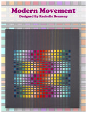 Modern Movement Pattern PDF download. Modern version of a traditional bargello quilt pattern using a Jelly Roll.