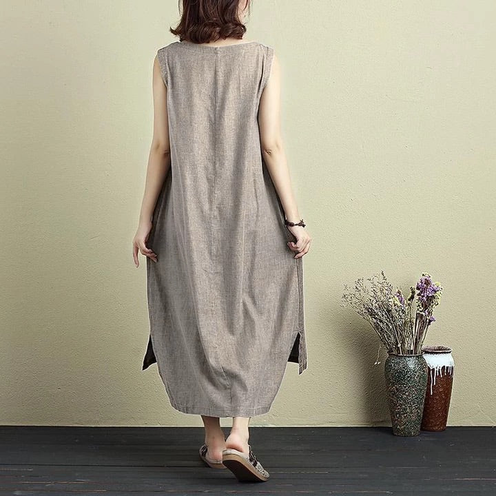 Patch Loose Dress Shades of Grey