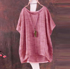 Loose cotton blend top