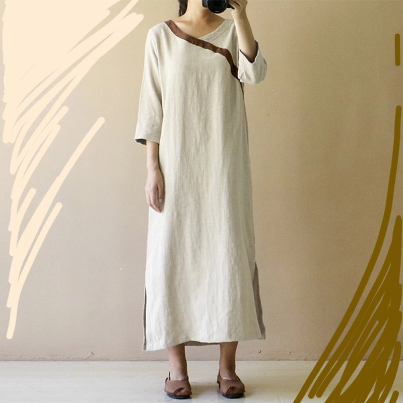 Elegant linen Long dress