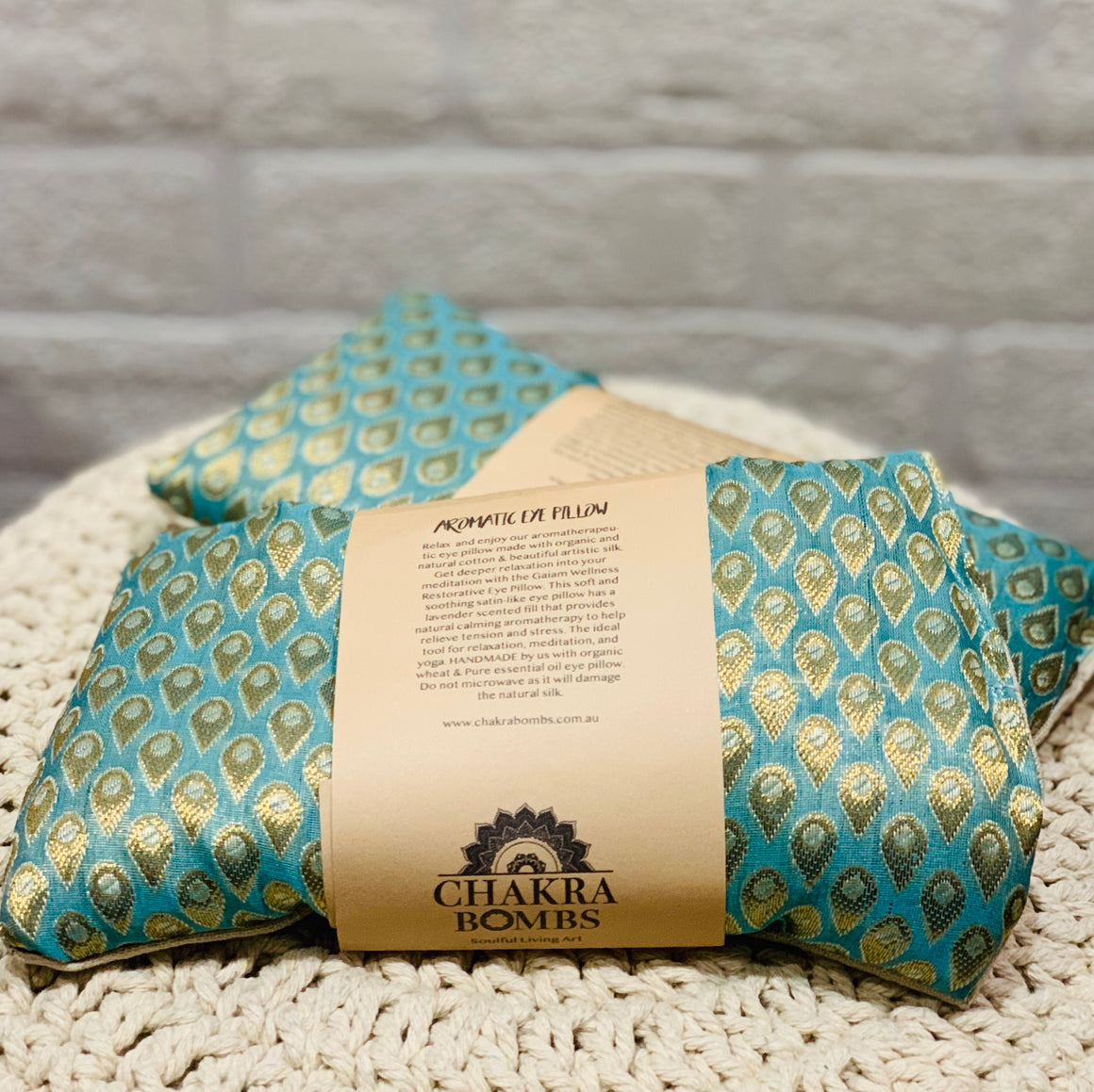 Silk & Organic Cotton Aromatic Eye Pillow