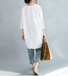 Loose white cotton top
