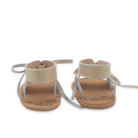 Gold sandals by Bubze. Baby sandals and toddler sandals available.