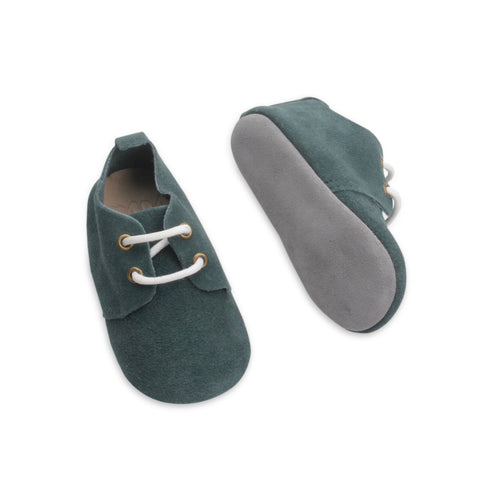 Olive loafers by Bubze. Baby shoes and toddler shoes available.