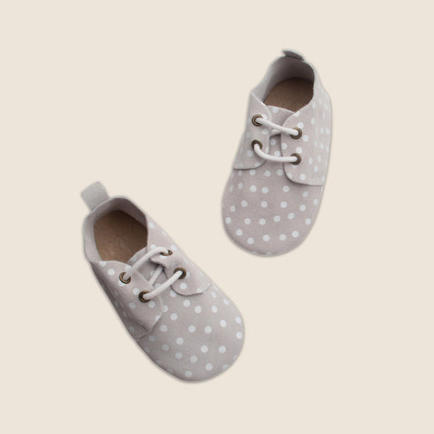 Bubze Australia cream polkadot loafers for toddlers and babies aged from 6-24 months