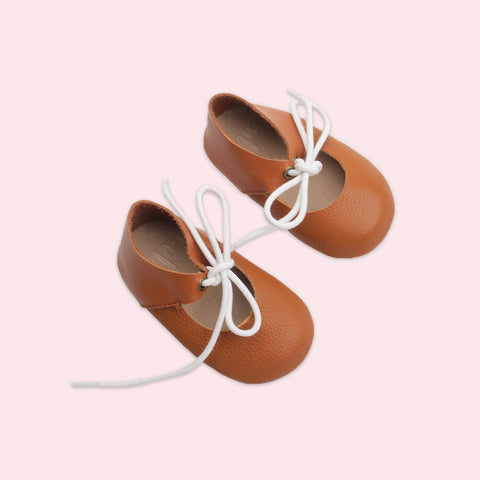 Bubze Australia tan mary janes for toddlers and babies aged from 6-24 months