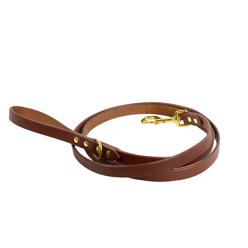 DANTE LEASH - Cognac & Brass