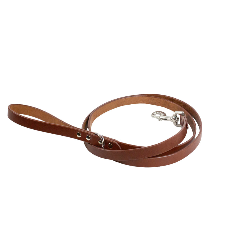 DANTE LEASH - Cognac & Nickel
