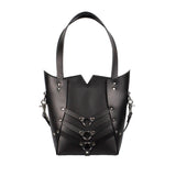 PALLAS TOTE - Black and Nickel