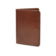 VENTURE PASSPORT WALLET - COGNAC