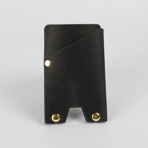 ATLAS CARD WALLET - BLACK & BRASS