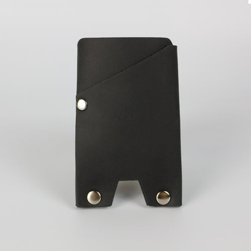 ATLAS CARD WALLET - BLACK & NICKEL
