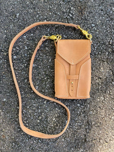 50% OFF SAMPLE SALE - PHONE SLING - FAWN & BRASS