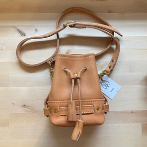 SAMPLE SALE - LITTLE BANDIT CROSSBODY - Fawn & Brass