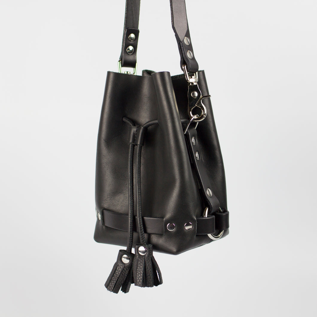 SAMPLE SALE First-Generation LITTLE BANDIT CROSSBODY - Black & Nickel